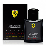 Scuderia Ferrari Black Signature Aftershave Lotion 75ML