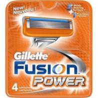 Gillette Fusion Power Lame di Ricambio 4 PZ