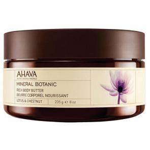 Ahava Mineral Botanic Rich Body Butter Lotus & Chestnut 235GR