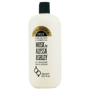 Alyssa Ashley Musk Bubbling Bath and Shower Gel 750ML