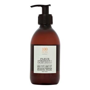 100Bon Fleur D'Oranger & Lilias Delicieux  Savon Liquide 300ML