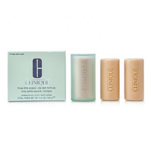 Clinique 3 Little Soaps with Travel Dish - Oily Skin 150GR