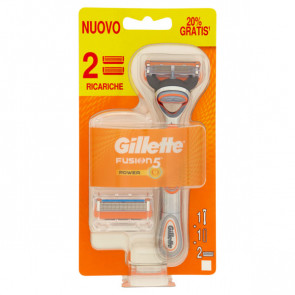 Gillette Fusion 5 Power Rasoio + 2 Ricariche