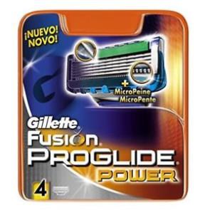 Gillette Fusion Proglide Power Ricariche 4 pezzi