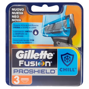 Gillette Fusion Proshield Chill Ricariche 3 pezzi