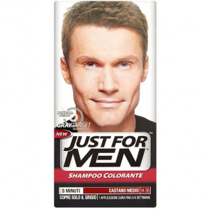 Just For Men Gray Target Technology Shampoo Colorante H-35 Castano Medio
