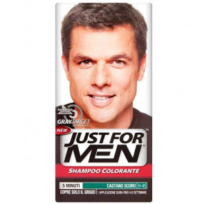 Just For Men Gray Target Technology Shampoo Colorante H-45 Castano Scuro