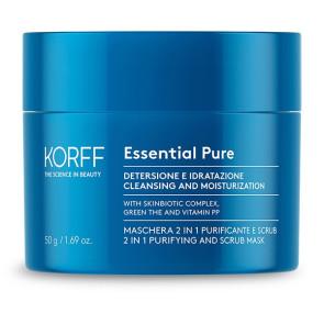 Korff Essential Pure Maschera 2 in 1 Purificante e Scrub 50ML
