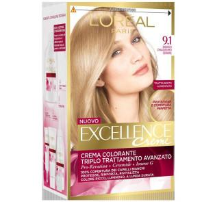 L'Oreal Paris Excellence Crema Colorante - 9.1 Biondo Chiarissimo Cenere