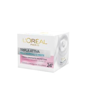 L'Oreal Paris Tripla Attiva Crema Idratante Protettiva - Pelli Normali o Miste 50ML