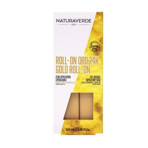 Naturaverde Pro Oro 24K Cera Depilatoria Roll On 100ML