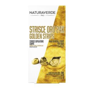 Naturaverde Pro Oro 24K Strisce Depilatorie Corpo 20PZ