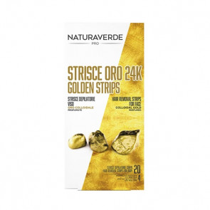 Naturaverde Pro Oro 24K Strisce Depilatorie Viso 20PZ