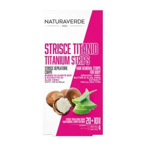 Naturaverde Pro Strisce Depilatorie Corpo Titanio 20PZ