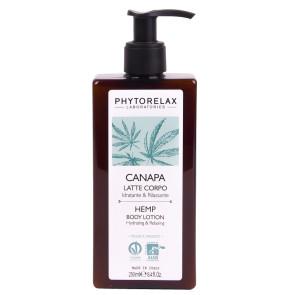 Phytorelax Olio di Canapa Sativa Biologico Latte Corpo Idratante e Rilassante 200ML