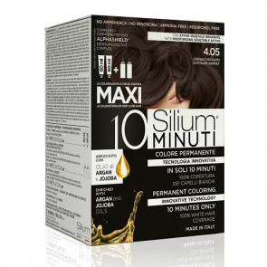 Silium 10 minuti Maxi Colorazione Permanente 4.05 Castano Cioccolato