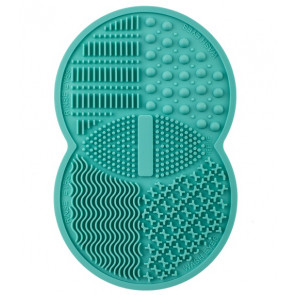 Zoe Ayla Professional Silicone Make-Up Brush Cleansing Rubber Pad - Light Blue