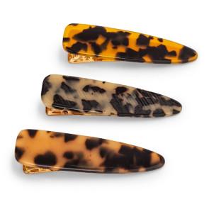 Zoe Ayla Leopard Hair Clips 3PZ