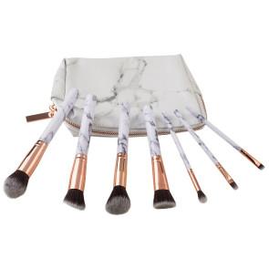 Zoe Ayla Marble Effect Make Up Brush Set  7PZ