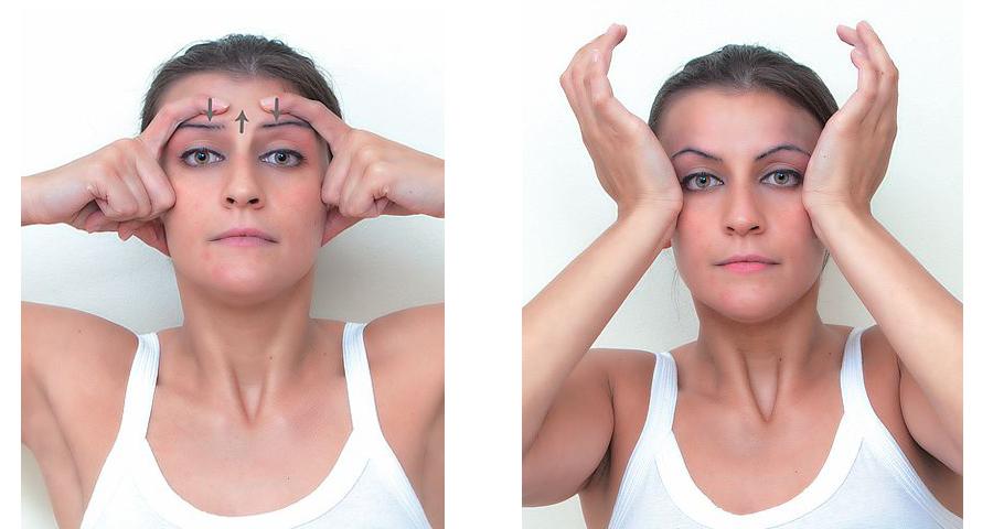 ginnastica facciale per il contorno occhi