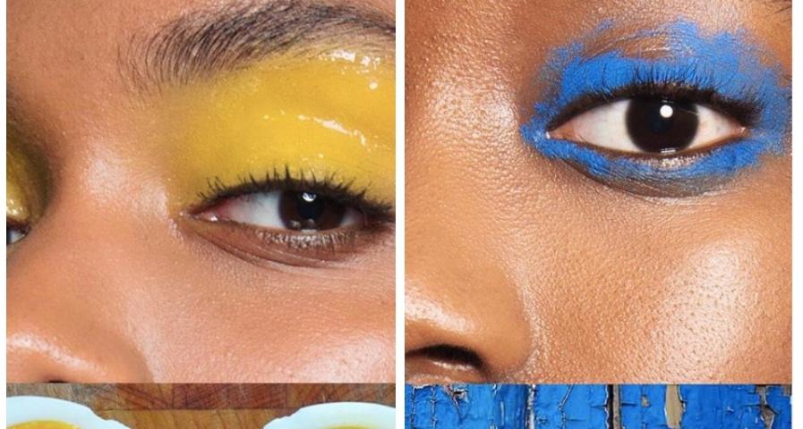 trucco occhi colori pop